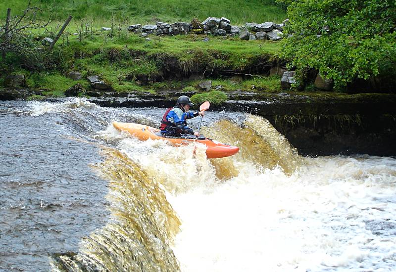Running the first of two drops on Widdale Beck in barely enough water